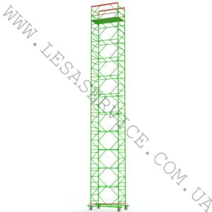 The scaffold tower 10+1, 1,2+2,0 (3 diagonals)