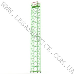 The scaffold tower 13+1, 1,2х2,0 (4 diagonals)