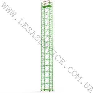 The scaffold tower 14+1, 1,2х2,0 (5 diagonals)