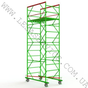The scaffold tower 3+1 1,2х2,0 (1 diagonal)