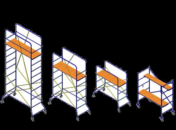 (Русский) Основные виды строительных подмостей