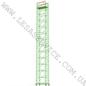 The scaffold tower 12+1, 1,2х2,0 (4  diagonals)