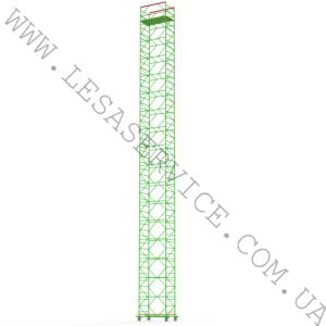 The scaffold tower 16+1, 1,2х2,0 (5 diagonals)
