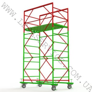 The scaffold tower 2+1, 1,7х0,8  (1 diagonal)