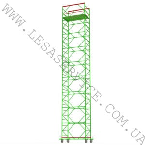 The scaffold tower 8+1, 1,2 х 2,0 (3 diagonals)