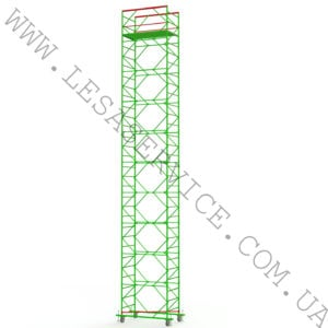 The scaffold tower 9+1, 1,2х2,0 (3 diagonals)